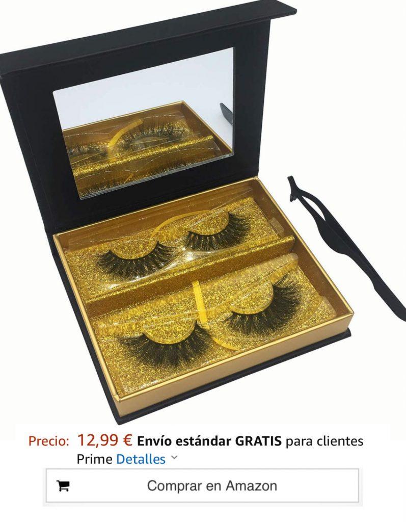 Pestañas Postizas Faux Mink 3D y 4D Paquete de 2 Pares, Seductor Largo & Grueso Hecho a mano Pestañas Postizas al Estilo Dramático & Natural