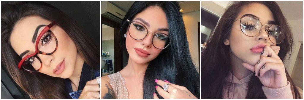 pestañas postizas con lentes