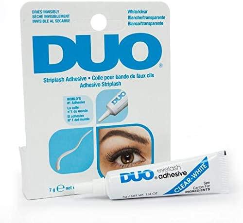 Adhesivo Pestañas Postizas & cejas artificiales, DUO Strip lash adhesive, pegamento de látex para pestañas postizas y la piel