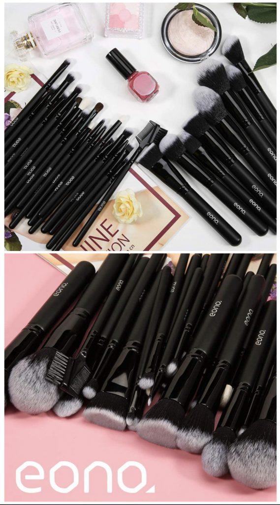 Brochas de Maquillaje Set 27 Piezas Profesional, Premium Pinceles de Maquillaje Set Brochas Maquillaje para Cosmética Facial y Ocular, Ojos, Cejas, Base de Maquillaje, Polvos, Crema