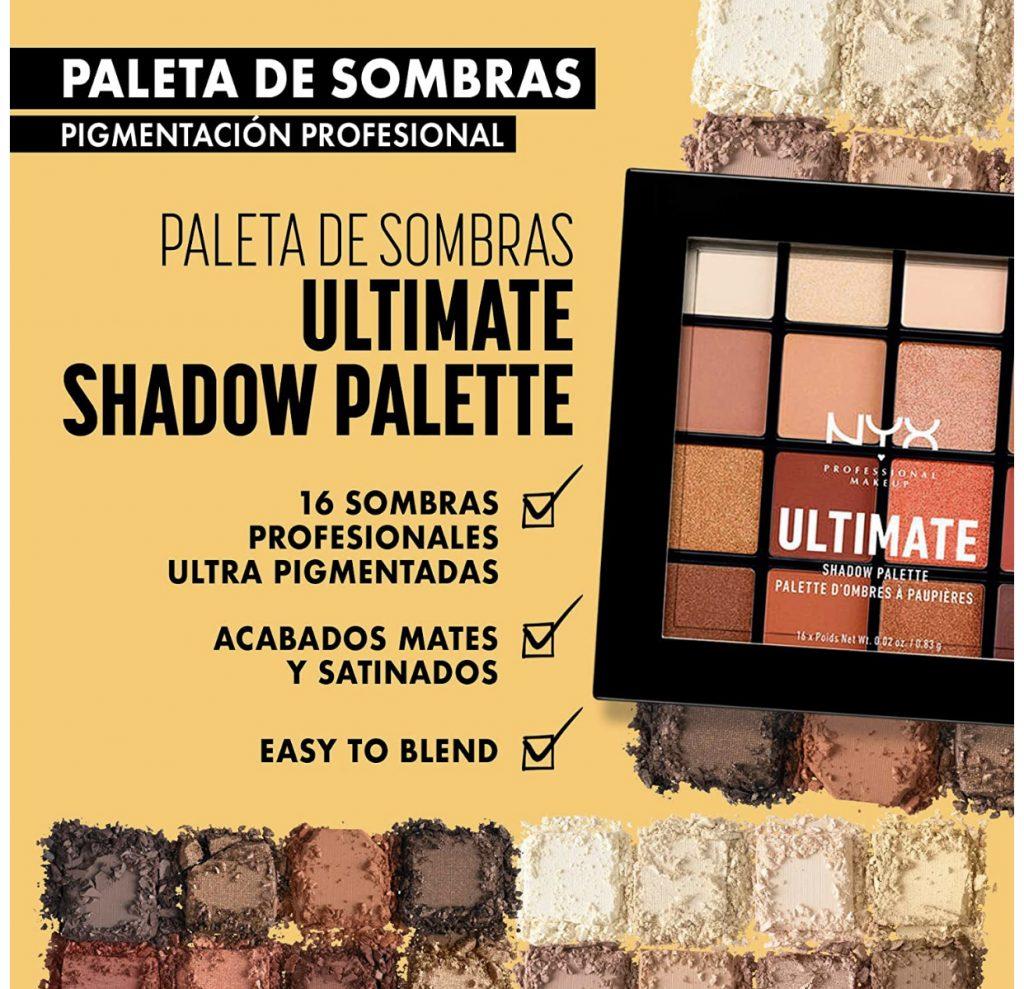 NYX Professional Makeup Paleta de sombra de ojos Ultimate Shadow Palette, Pigmentos compactos -regalos de belleza para la mujer